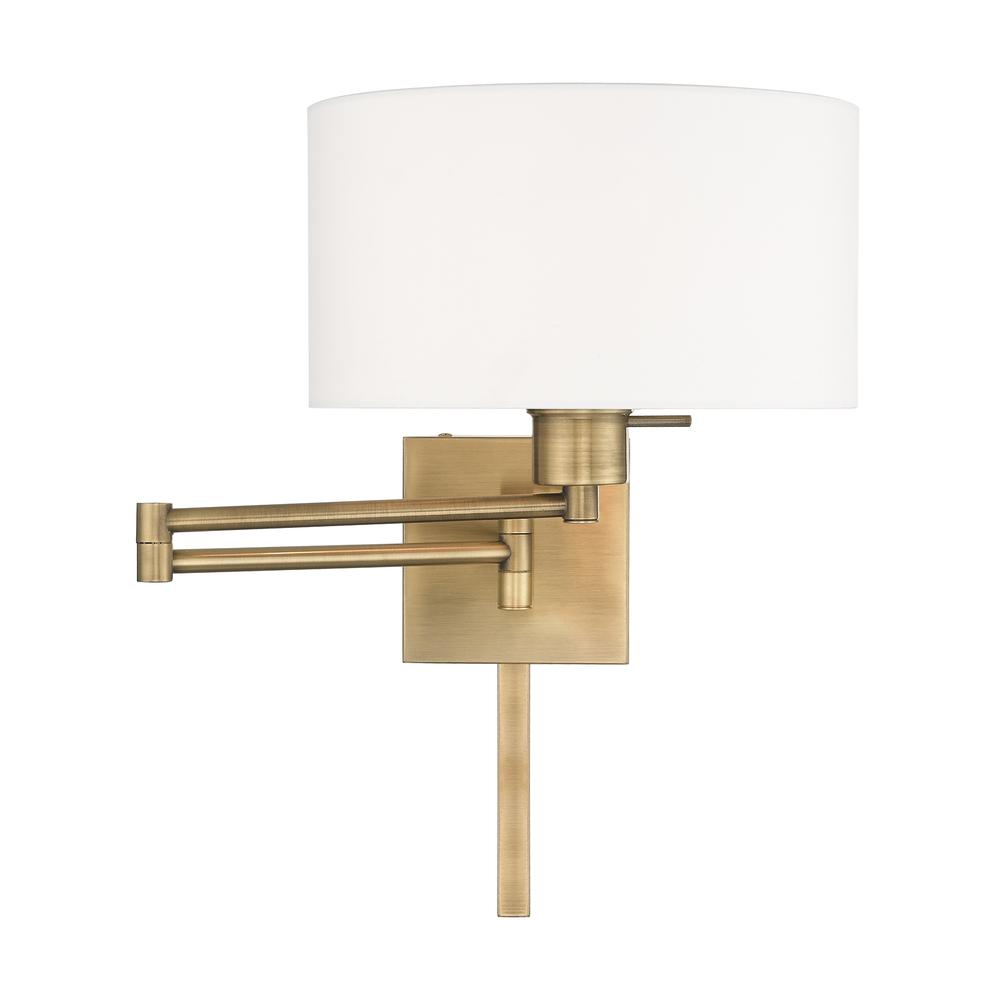 1 lt antique brass swing arm wall lamp 40036 01 coffman home decor