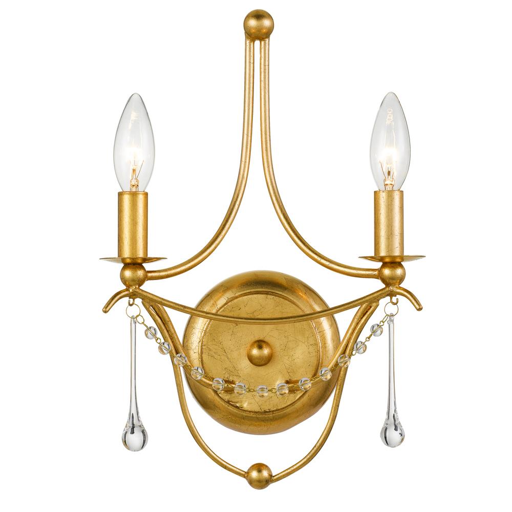 Metro 2 Light Antique Gold Sconce : 422-GA | COFFMAN HOME DECOR