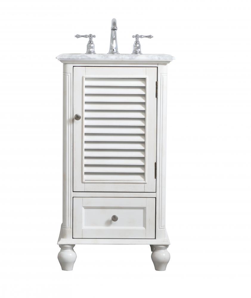19 Inch Single Bathroom Vanity In Antique White Vf30519aw Coffman Home Decor