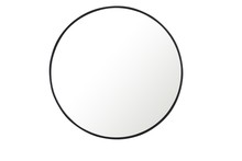 Elegant MR4037BK - Metal frame Round Mirror 32 inch Black finish