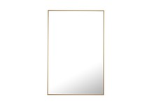 Elegant MR4078BR - Metal frame Rectangle Mirror 28 inch Brass