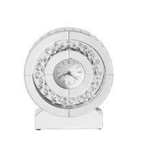 Elegant MR9117 - Sparkle 10.5 in. Contemporary Crystal Round Table clock in Clear