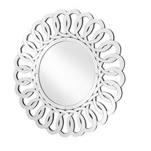 Elegant MR9127 - Sparkle 31.5 in. Contemporary Round Mirror in Clear