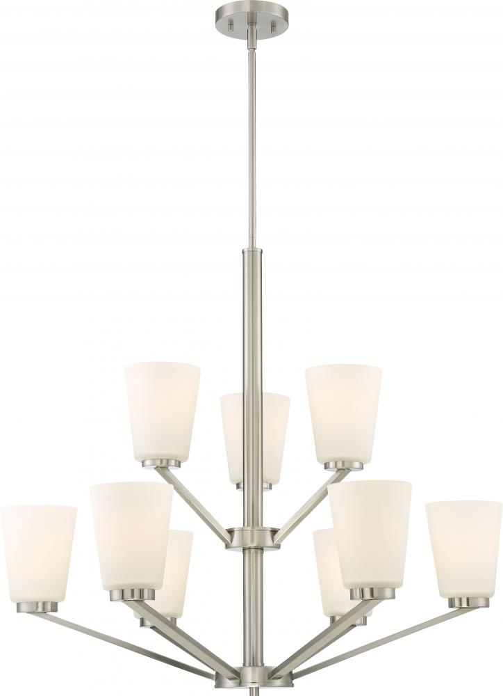 Nome 9 light chandelier